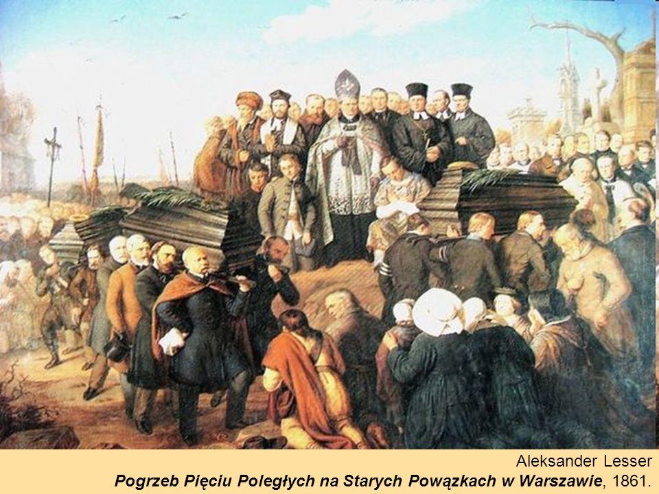 Aleksander Lesser Pogrzeb Pięciu Poległych na Starych Powązkach w Warszawie, 1861.