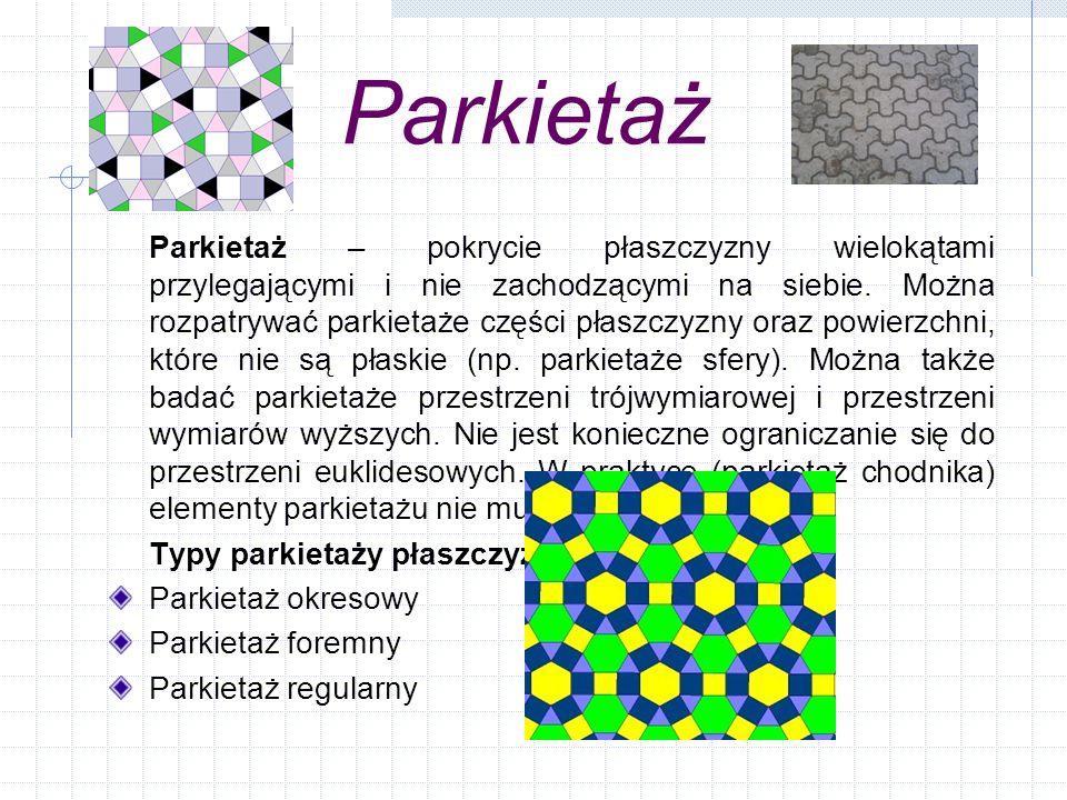 Parkietaże w architekturze i sztuce Parkietaże z prostokątów - Niby taka prosta figura, a zauważcie, ile daje możliwości skomponowania parkietażu.