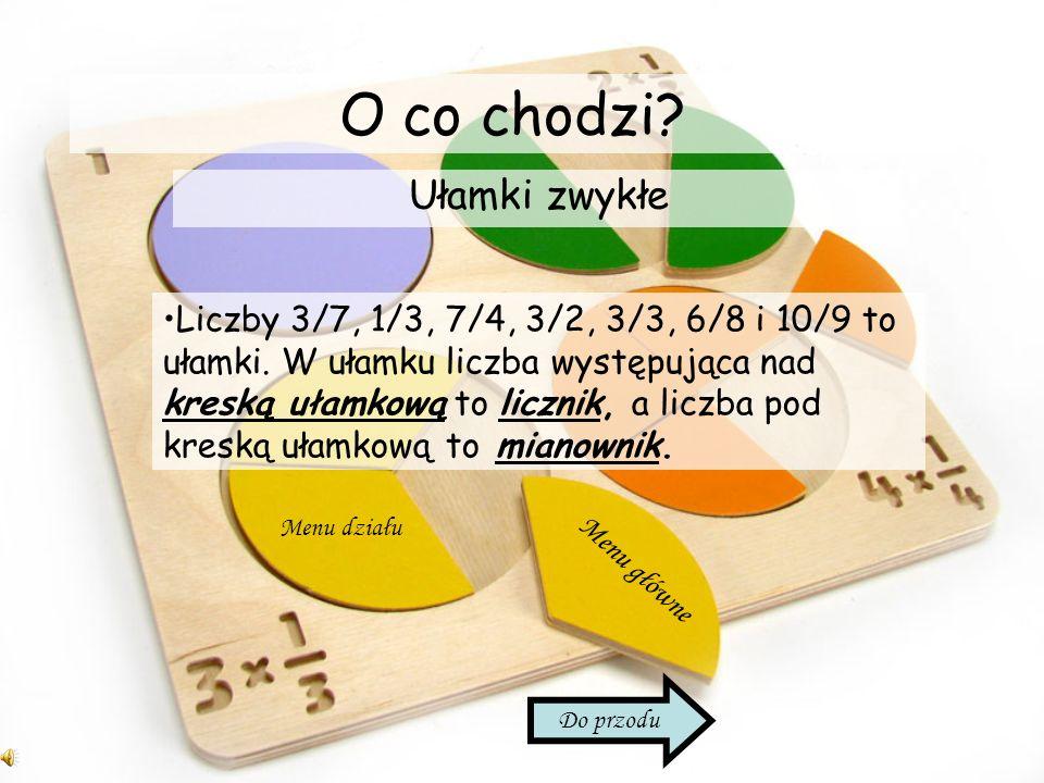 Ciekawostka Jeżeli chcemy zamienić liczbę mieszaną na ułamek niewłaściwy, możemy pomnożyć mianownik przez część całkowitą liczby i dodać licznik. Wste
