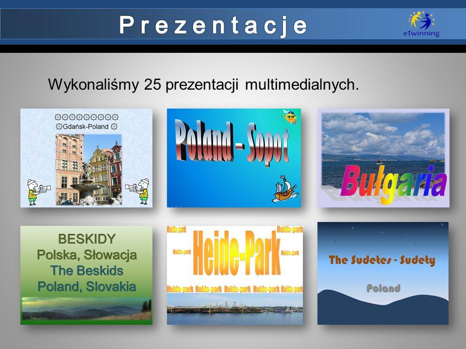 Wykonaliśmy 25 prezentacji multimedialnych.