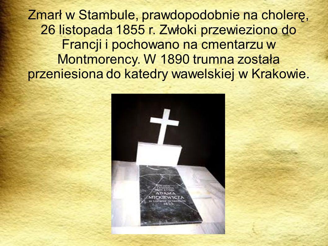 Zmarł w Stambule, prawdopodobnie na cholerę, 26 listopada 1855 r. Zwłoki przewieziono do Francji i pochowano na cmentarzu w Montmorency. W 1890 trumna
