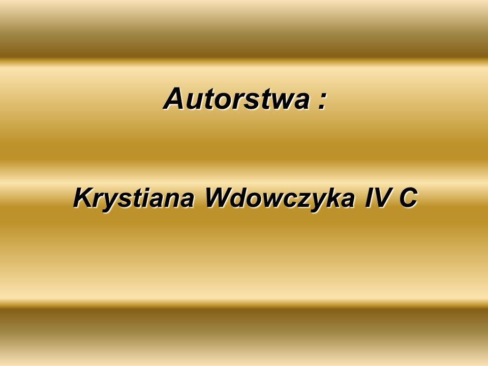 Autorstwa : Krystiana Wdowczyka IV C
