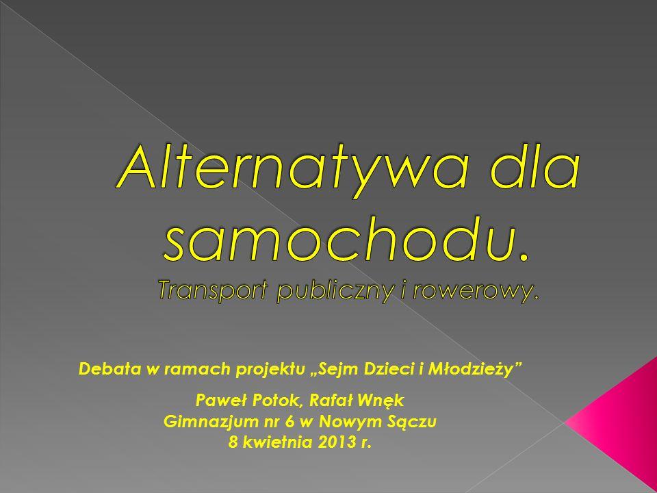 Debata w ramach projektu Sejm Dzieci i Młodzieży Paweł Potok, Rafał Wnęk Gimnazjum nr 6 w Nowym Sączu 8 kwietnia 2013 r.