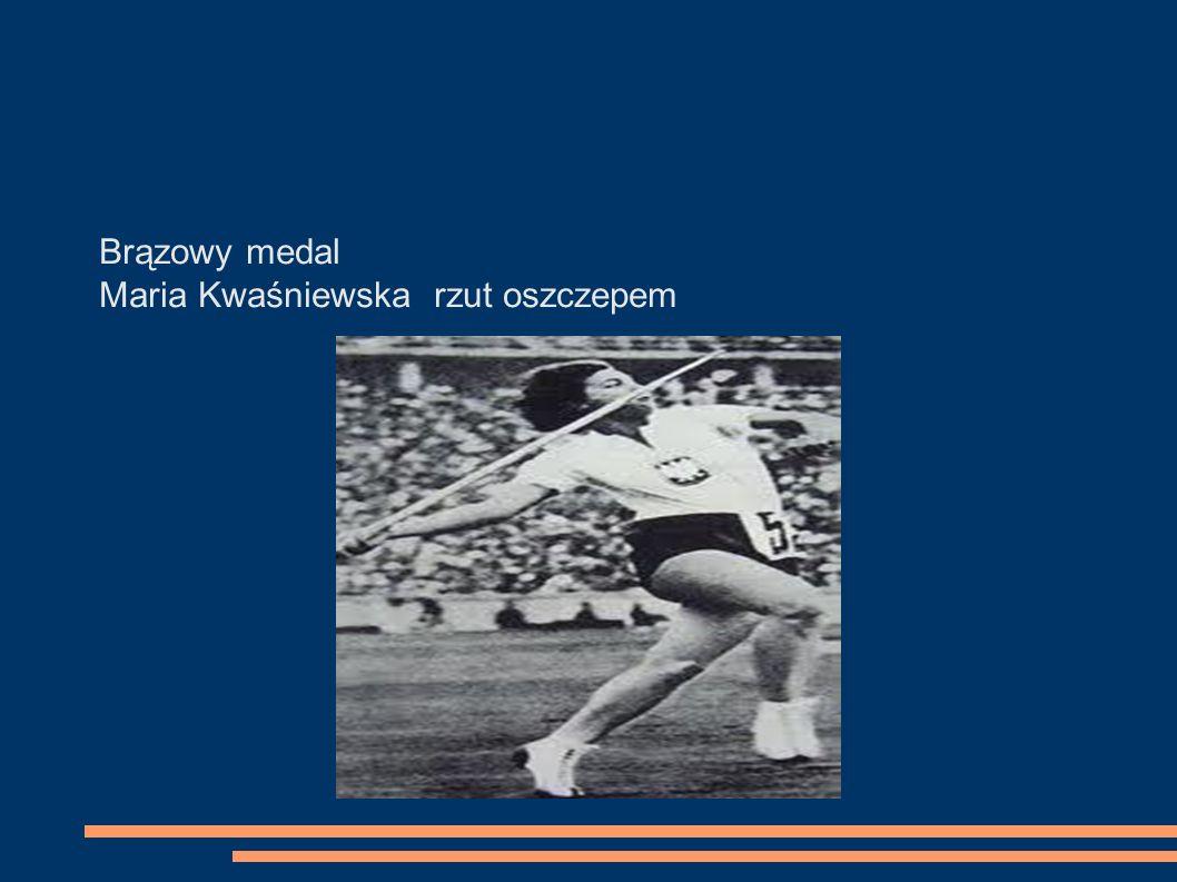 Brązowy medal Maria Kwaśniewska rzut oszczepem