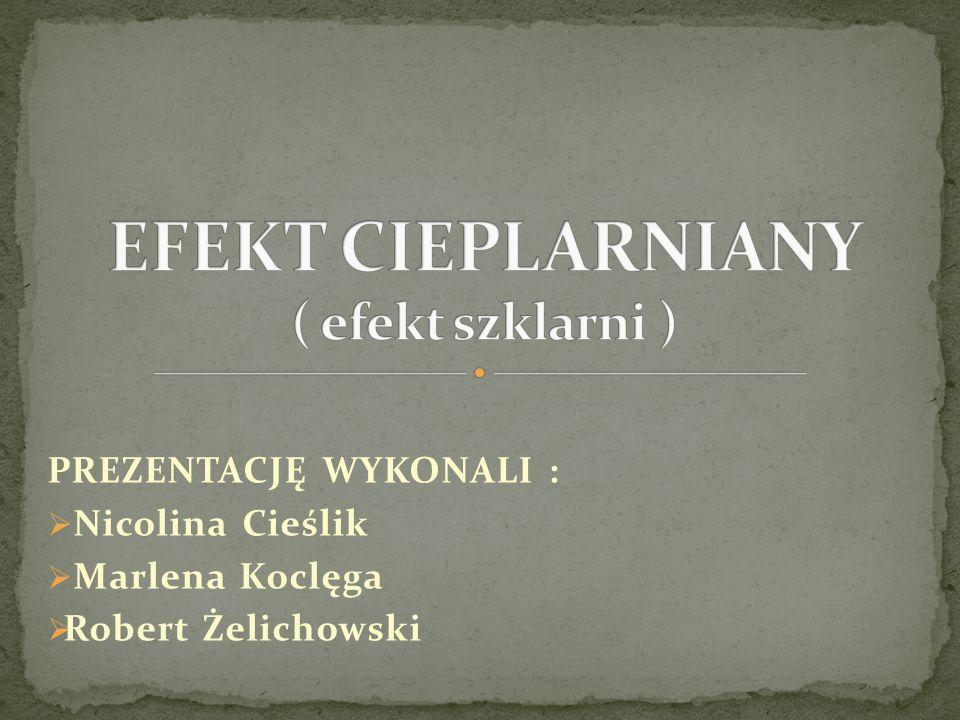 PREZENTACJĘ WYKONALI : Nicolina Cieślik Marlena Koclęga Robert Żelichowski