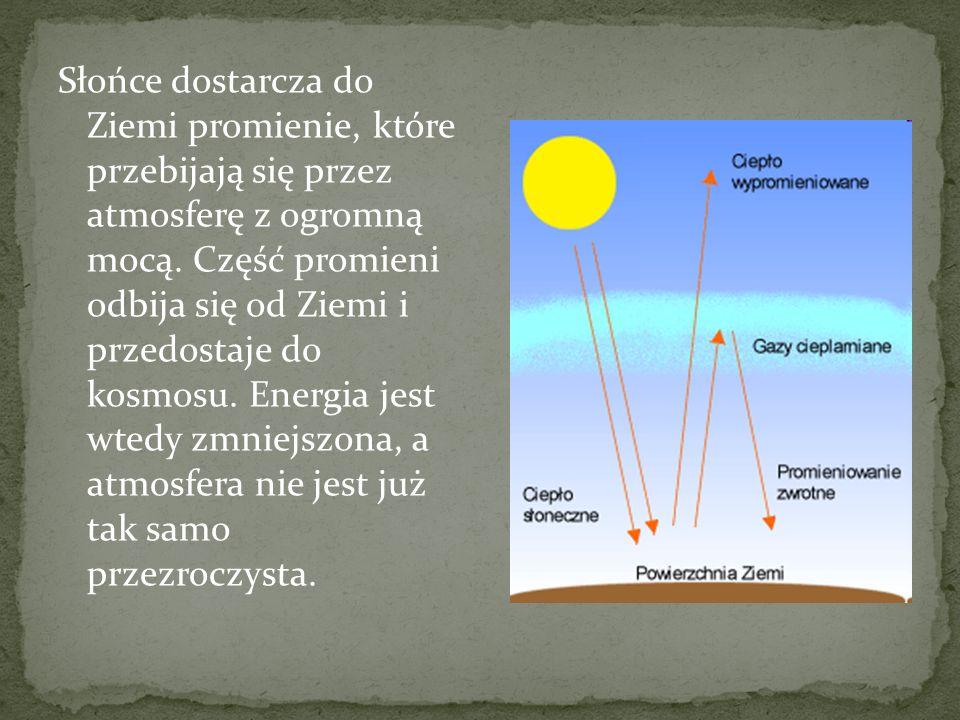 Słońce dostarcza do Ziemi promienie, które przebijają się przez atmosferę z ogromną mocą. Część promieni odbija się od Ziemi i przedostaje do kosmosu.