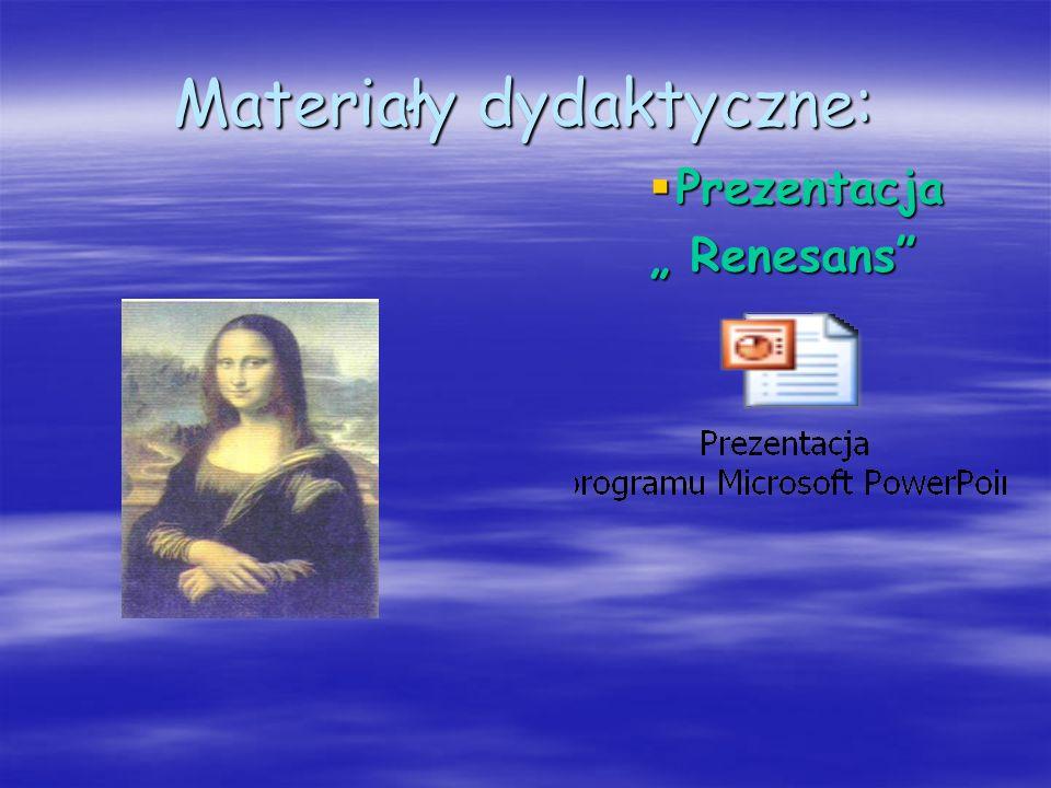 Materiały dydaktyczne: Prezentacja Renesans