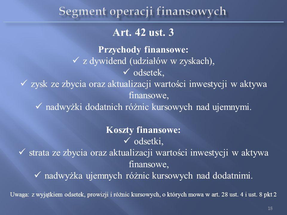 Art. 3 ust. 1 (Słowniczek) Pozostałe przychody operacyjne są to przychody i koszty związane pośrednio z działalnością operacyjną jednostki, w szczegól