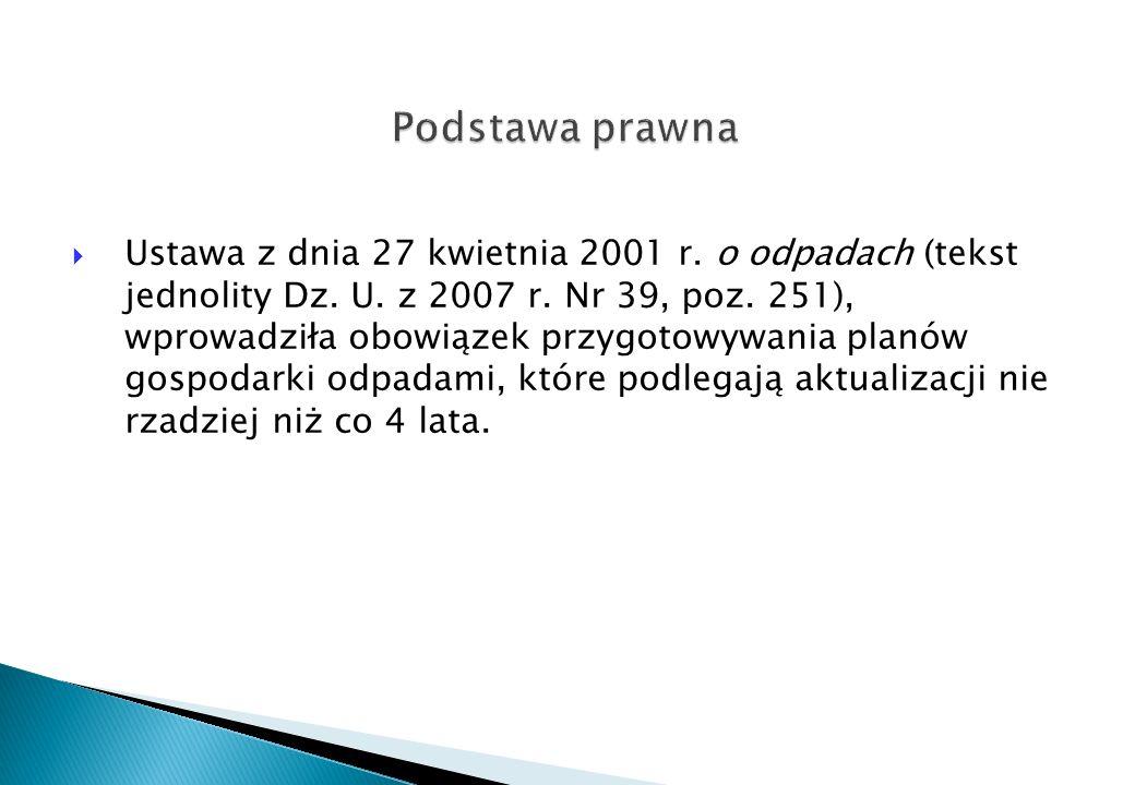 Wojewódzki System Odpadowy (Urząd Marszałkowski, lata 2006 - 2008).