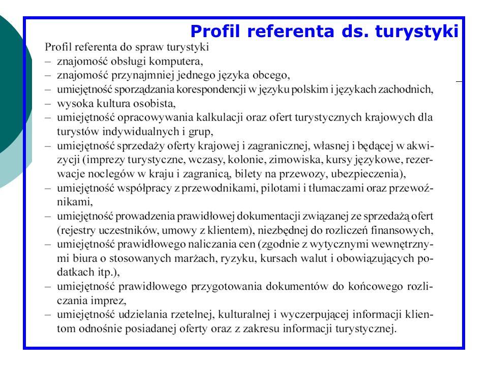 Profil referenta ds. turystyki
