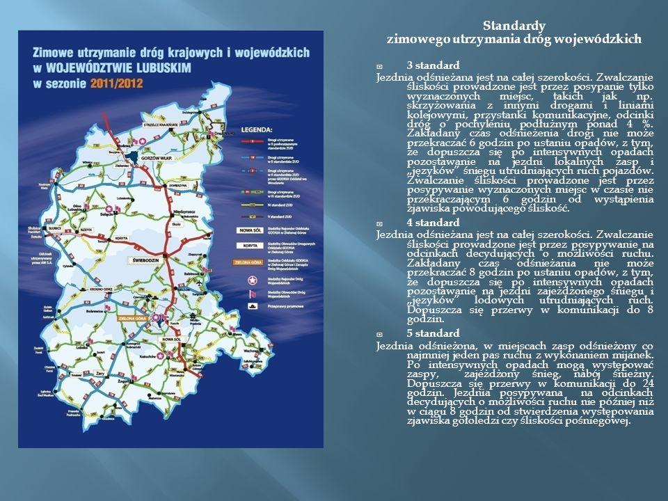 75 odcinków dróg szczególnie zagrożonych występowaniem śliskości zimowej /tj.