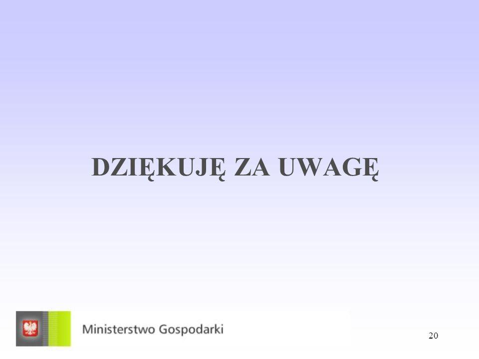 20 DZIĘKUJĘ ZA UWAGĘ