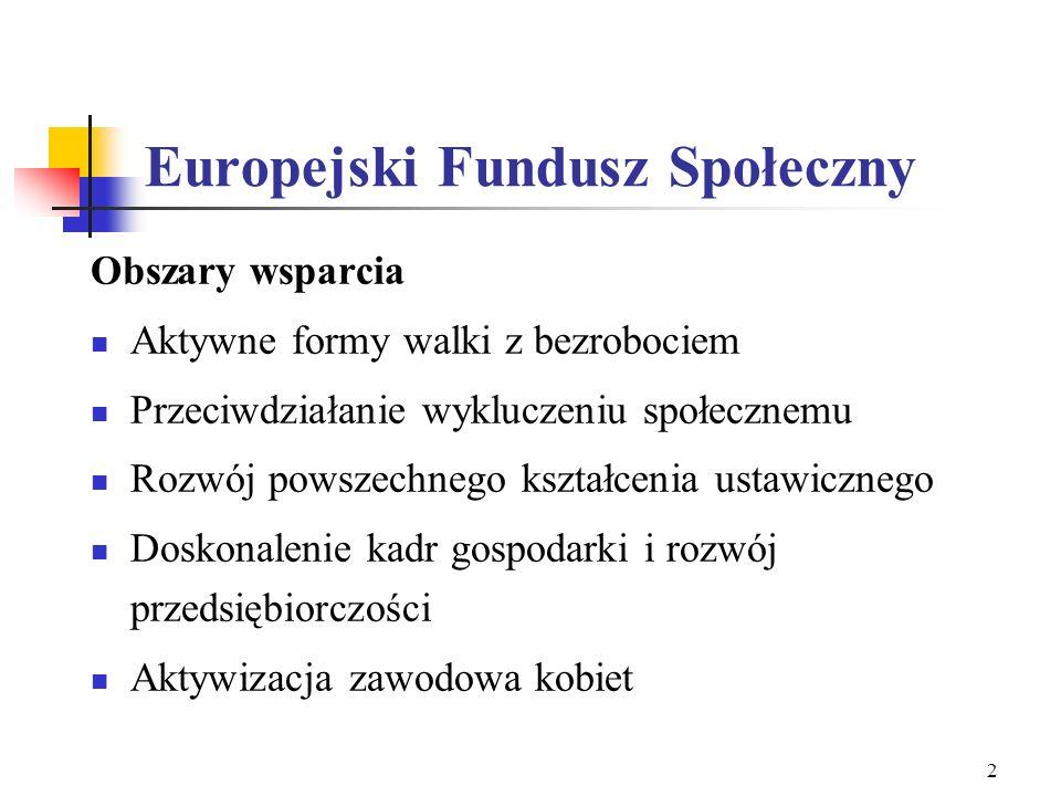 Wdrażanie Europejskiego Funduszu Społecznego w Polsce Departament Wdrażania EFS Ministerstwo Gospodarki, Pracy i Polityki Społecznej