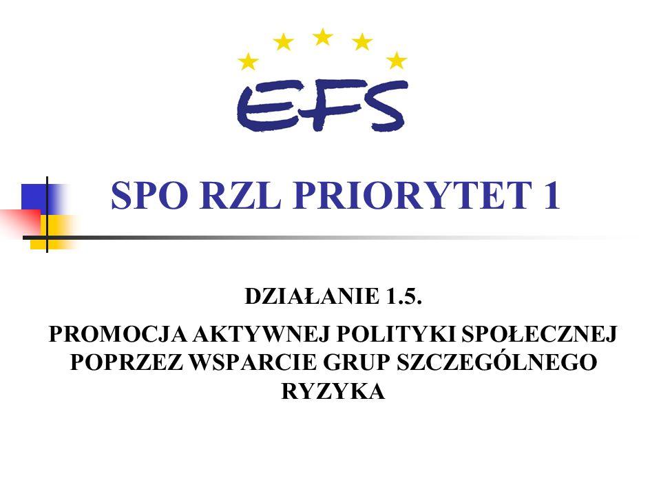 23 Działanie 1.1 Schemat B -projektodawcy Instytucje rynku pracy: (publiczne służby zatrudnienia, OHP, agencje zatrudnienia, instytucje szkoleniowe, i