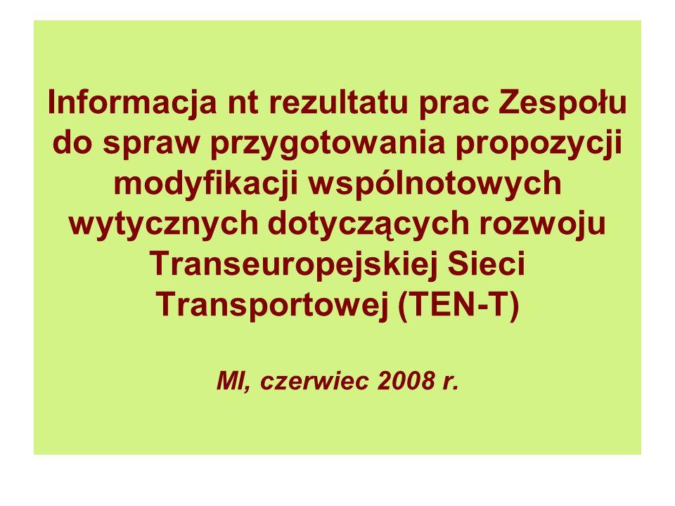 Sieć TEN-T w Polsce – drogi – stan obecny (ok. 4.800 km)