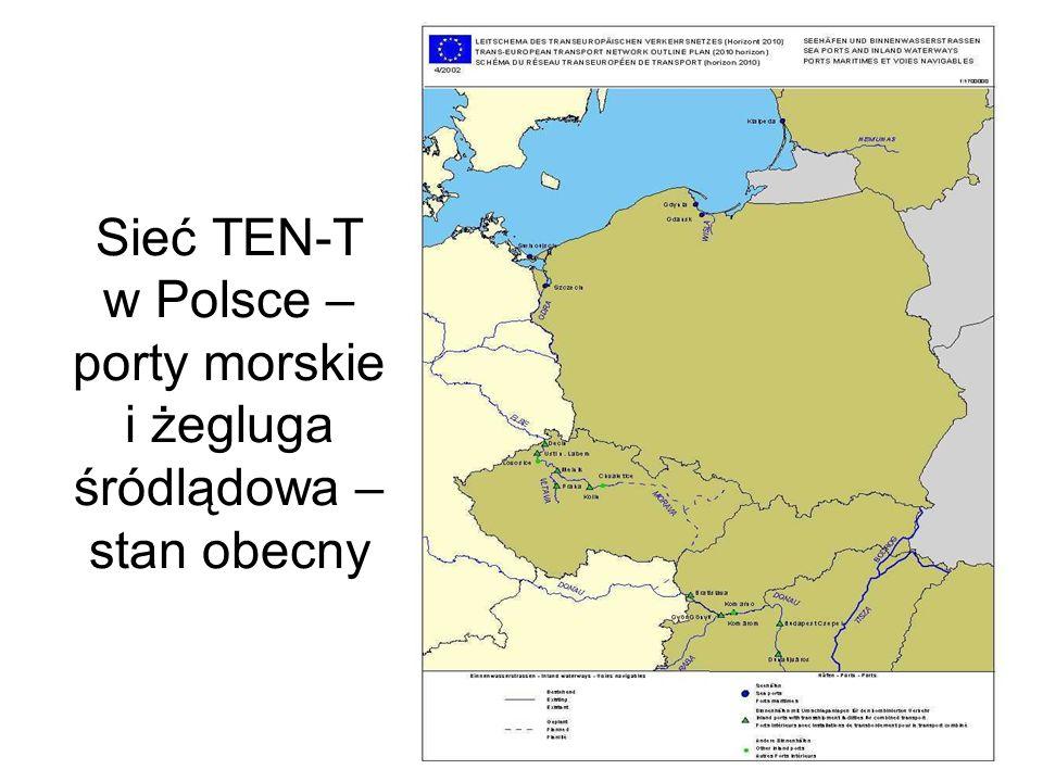 Sieć TEN-T w Polsce – porty morskie i żegluga śródlądowa – propozycja - Police ODRA