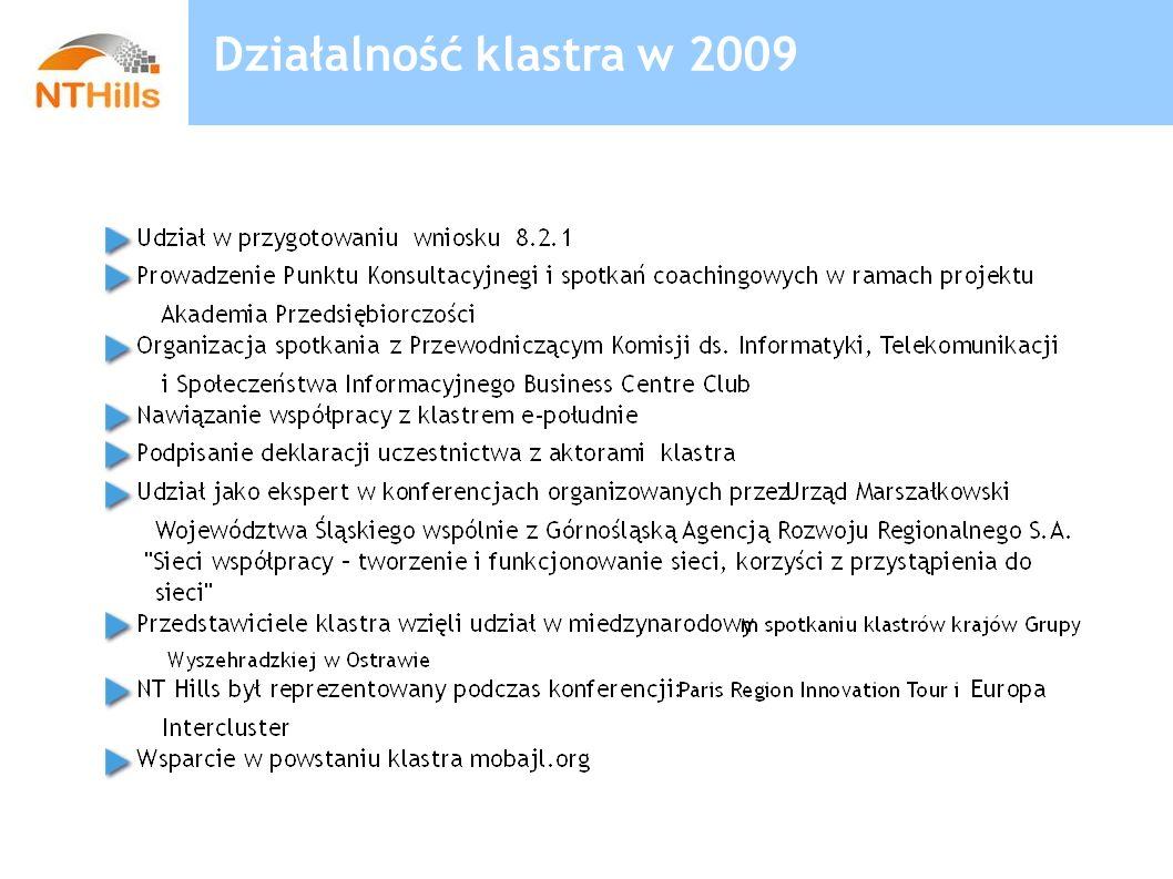 Działalność klastra w 2009