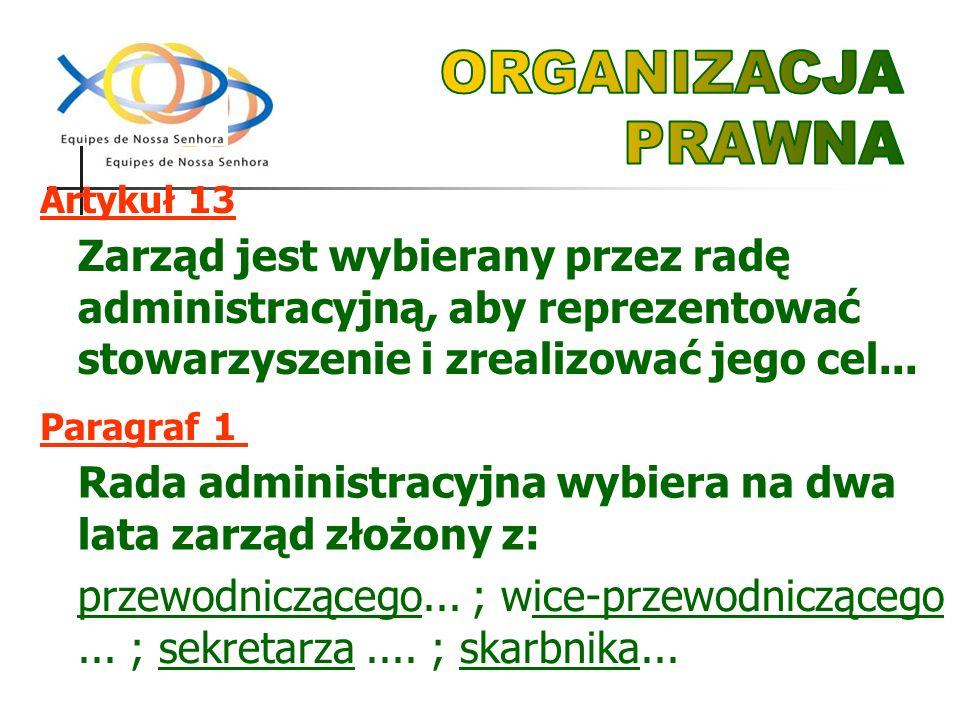 Zarząd jest wybierany przez radę administracyjną, aby reprezentować stowarzyszenie i zrealizować jego cel...