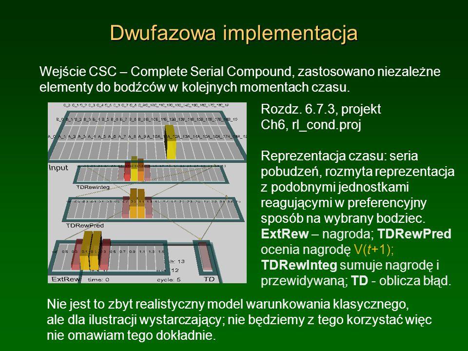 Dwufazowa implementacja Wejście CSC – Complete Serial Compound, zastosowano niezależne elementy do bodźców w kolejnych momentach czasu. Nie jest to zb