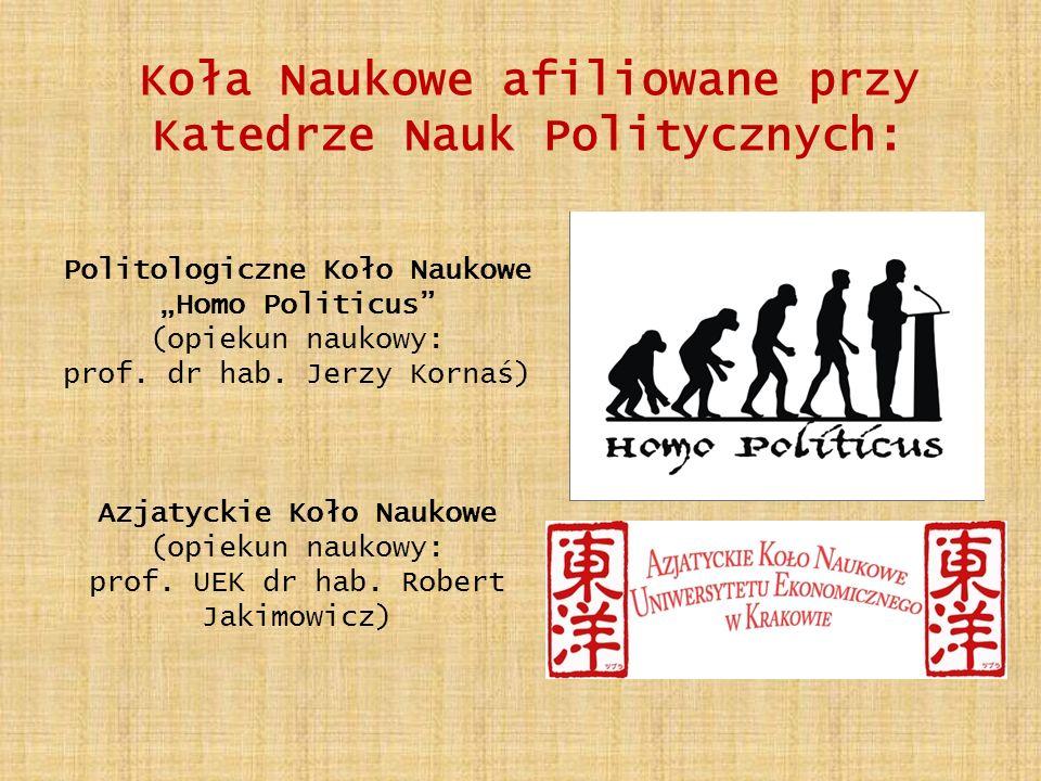 Politologiczne Koło Naukowe Homo Politicus (opiekun naukowy: prof.