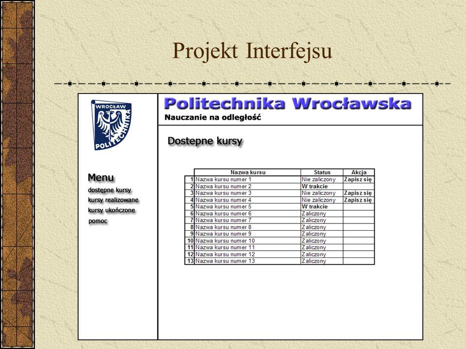 Projekt Interfejsu