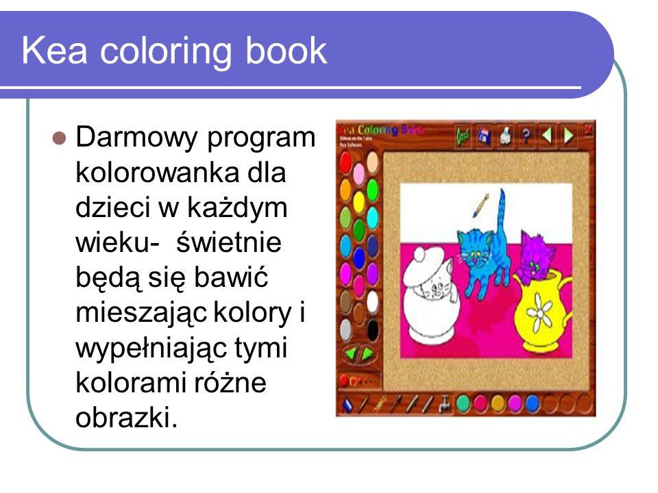 Kea coloring book Darmowy program kolorowanka dla dzieci w każdym wieku- świetnie będą się bawić mieszając kolory i wypełniając tymi kolorami różne ob