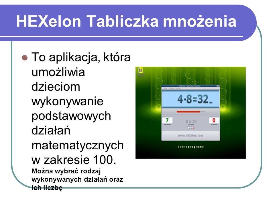 HEXelon Tabliczka mnożenia To aplikacja, która umożliwia dzieciom wykonywanie podstawowych działań matematycznych w zakresie 100. Można wybrać rodzaj