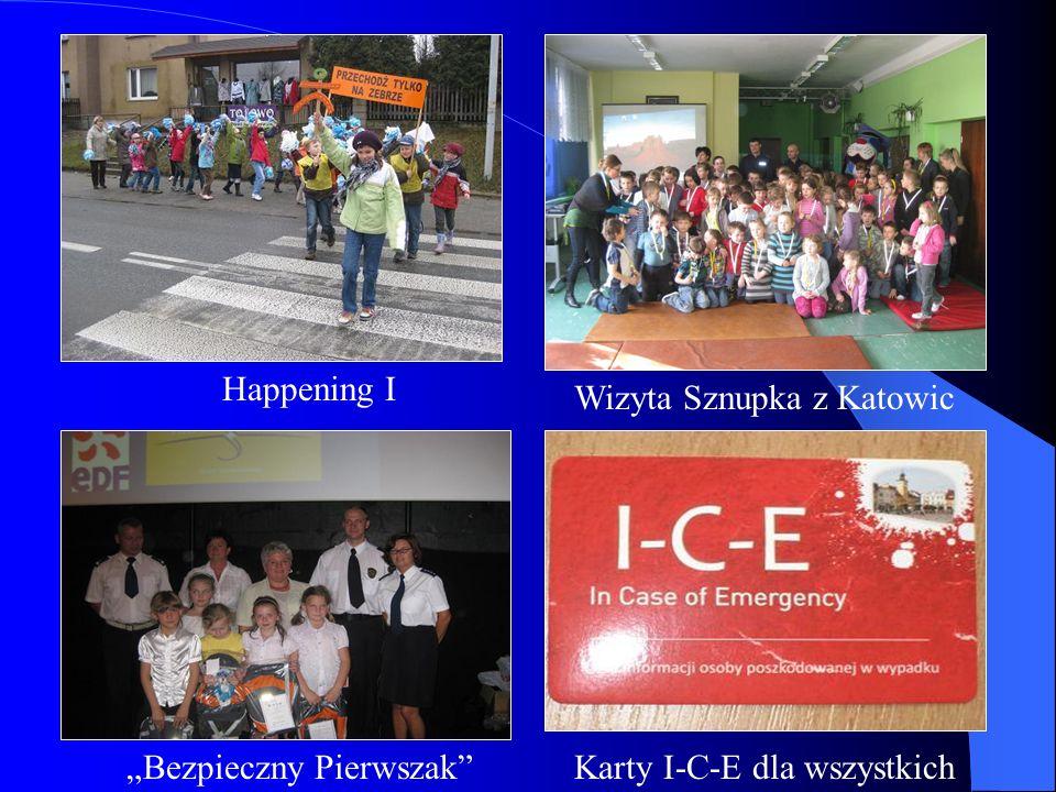 Happening I Wizyta Sznupka z Katowic Bezpieczny PierwszakKarty I-C-E dla wszystkich