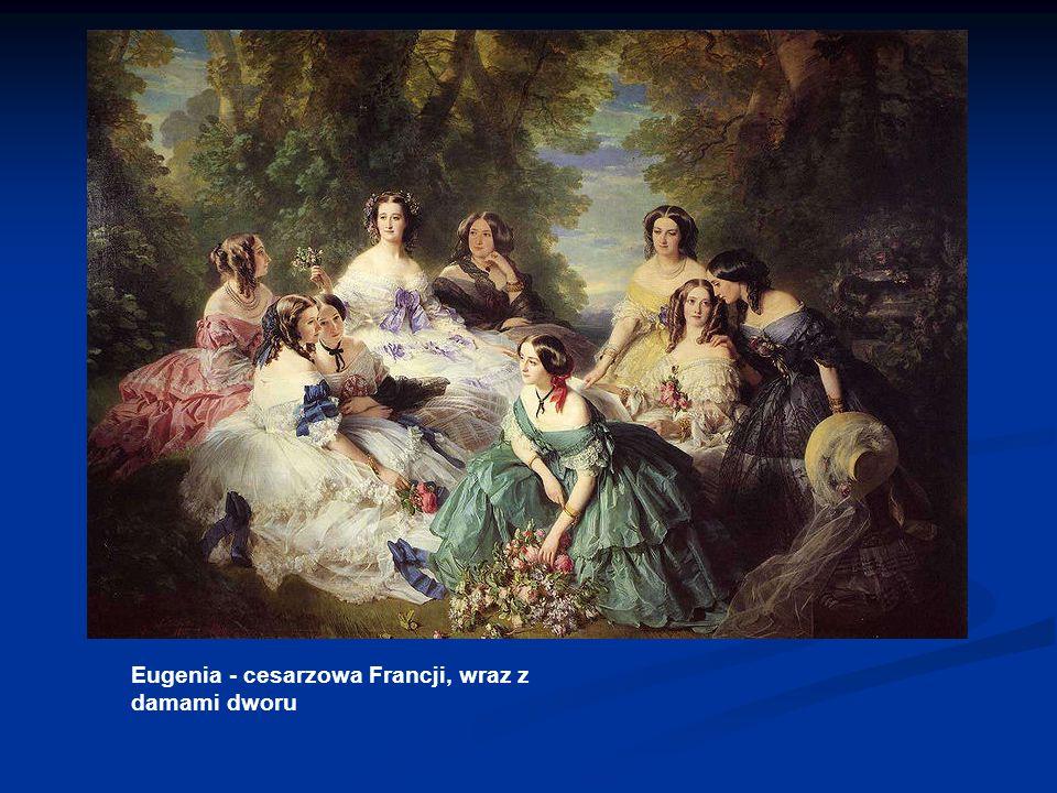 Eugenia - cesarzowa Francji, wraz z damami dworu