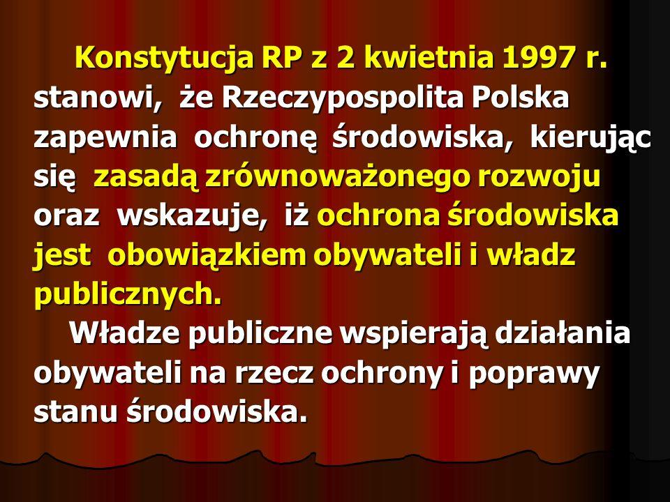 Konstytucja RP z 2 kwietnia 1997 r. Konstytucja RP z 2 kwietnia 1997 r. stanowi, że Rzeczypospolita Polska stanowi, że Rzeczypospolita Polska zapewnia