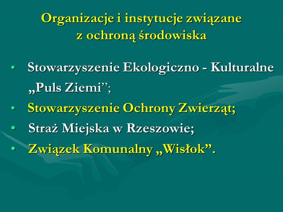 Organizacje i instytucje związane z ochroną środowiska Stowarzyszenie Ekologiczno - Kulturalne Stowarzyszenie Ekologiczno - Kulturalne Puls Ziemi; Pul