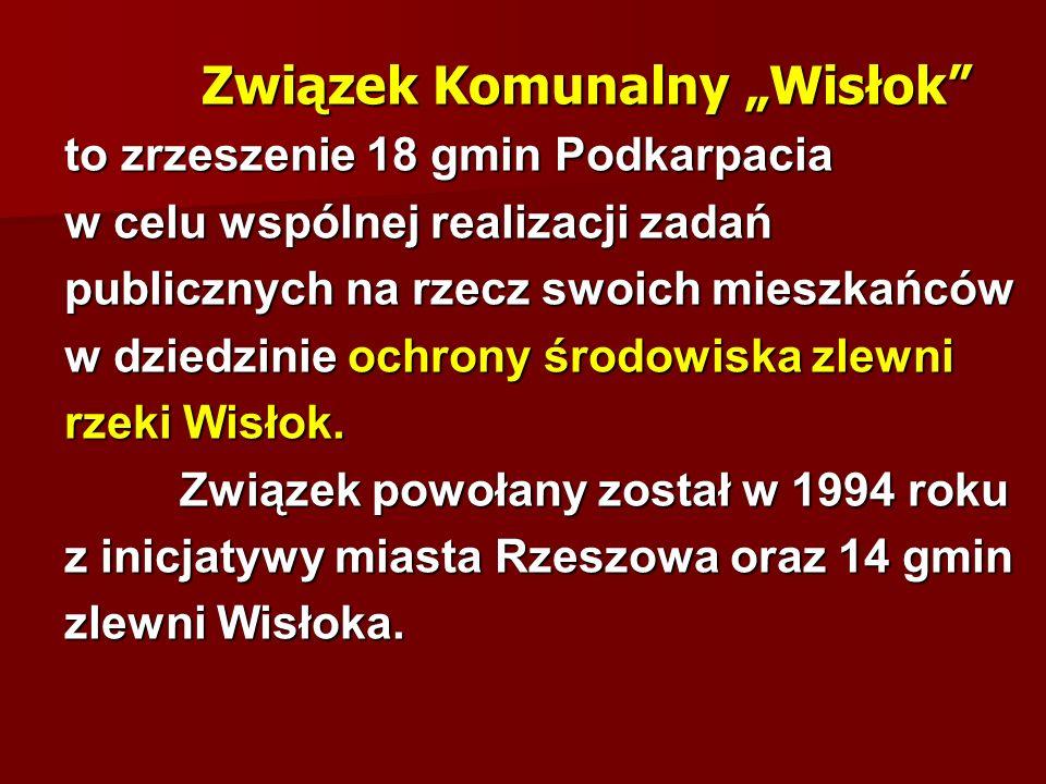 Związek Komunalny Wisłok Związek Komunalny Wisłok to zrzeszenie 18 gmin Podkarpacia w celu wspólnej realizacji zadań publicznych na rzecz swoich miesz