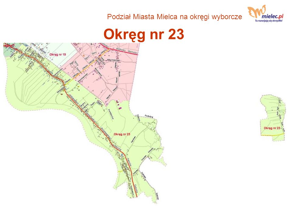 Okręg nr 23 Podział Miasta Mielca na okręgi wyborcze