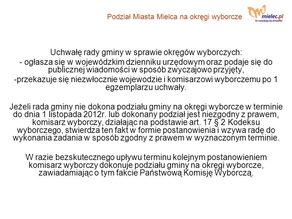 Okręg nr 7 Podział Miasta Mielca na okręgi wyborcze