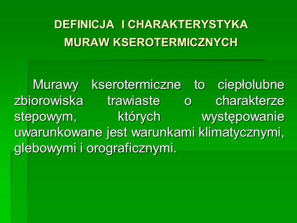 Rozmieszczenie muraw naskalnych w Polsce Pieniny Zachodnie, Skalice Nowotarskie i Spiskie, południowa część Wyżyny Krakowsko-Częstochowskiej, wschodnia część Wyżyny Śląskiej [Perzanowska, Kujawa-Pawlaczyk 2004].