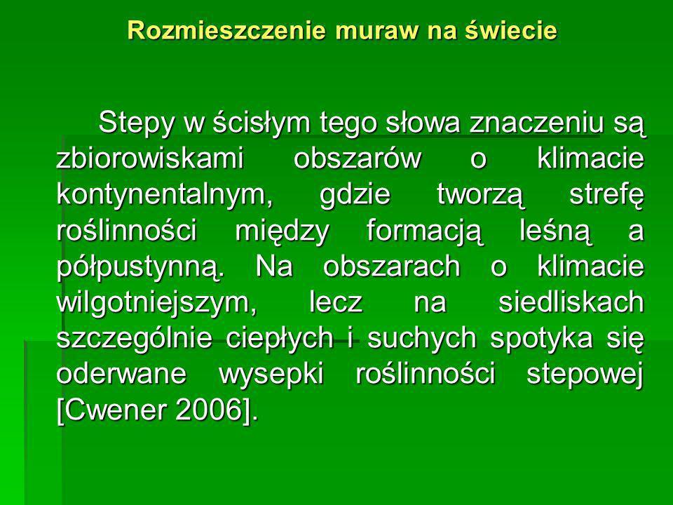 Rozmieszczenie muraw kserotermicznych w Polsce