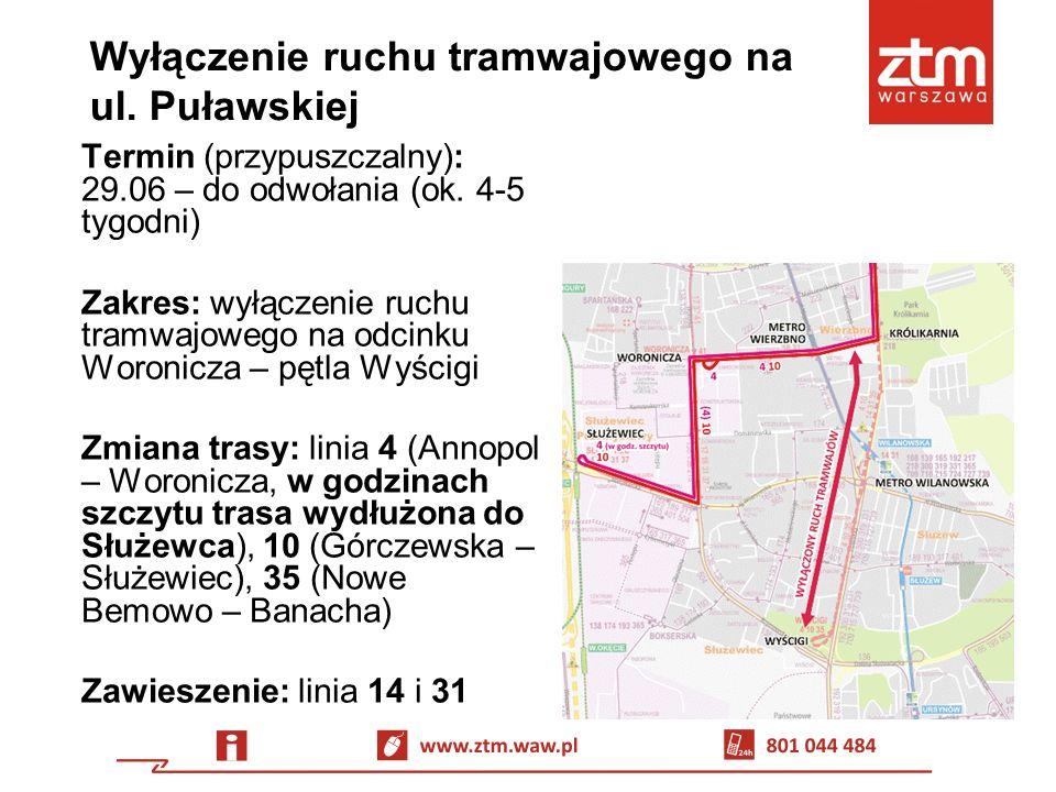 Zastępcza komunikacja autobusowa Linia Z-2: METRO WILANOWSKA – al.