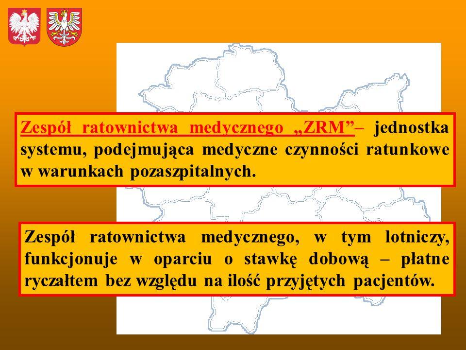 Zespół ratownictwa medycznego ZRM– jednostka systemu, podejmująca medyczne czynności ratunkowe w warunkach pozaszpitalnych. Zespół ratownictwa medyczn