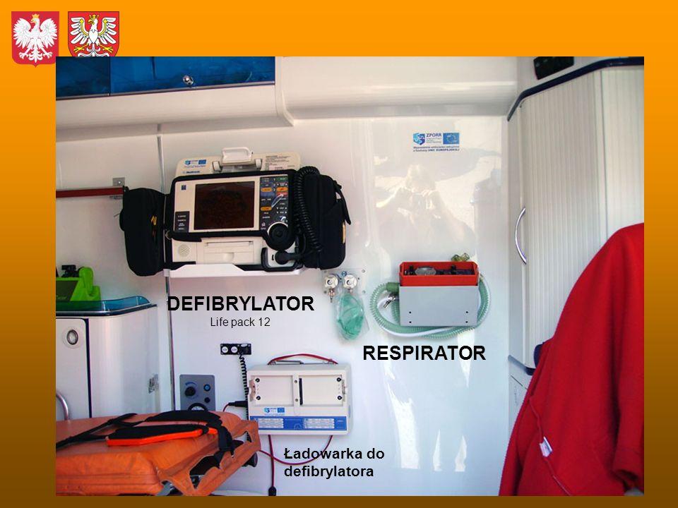 DEFIBRYLATOR Life pack 12 RESPIRATOR Ładowarka do defibrylatora