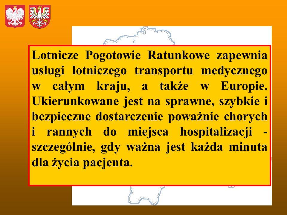 Lotnicze Pogotowie Ratunkowe zapewnia usługi lotniczego transportu medycznego w całym kraju, a także w Europie. Ukierunkowane jest na sprawne, szybkie