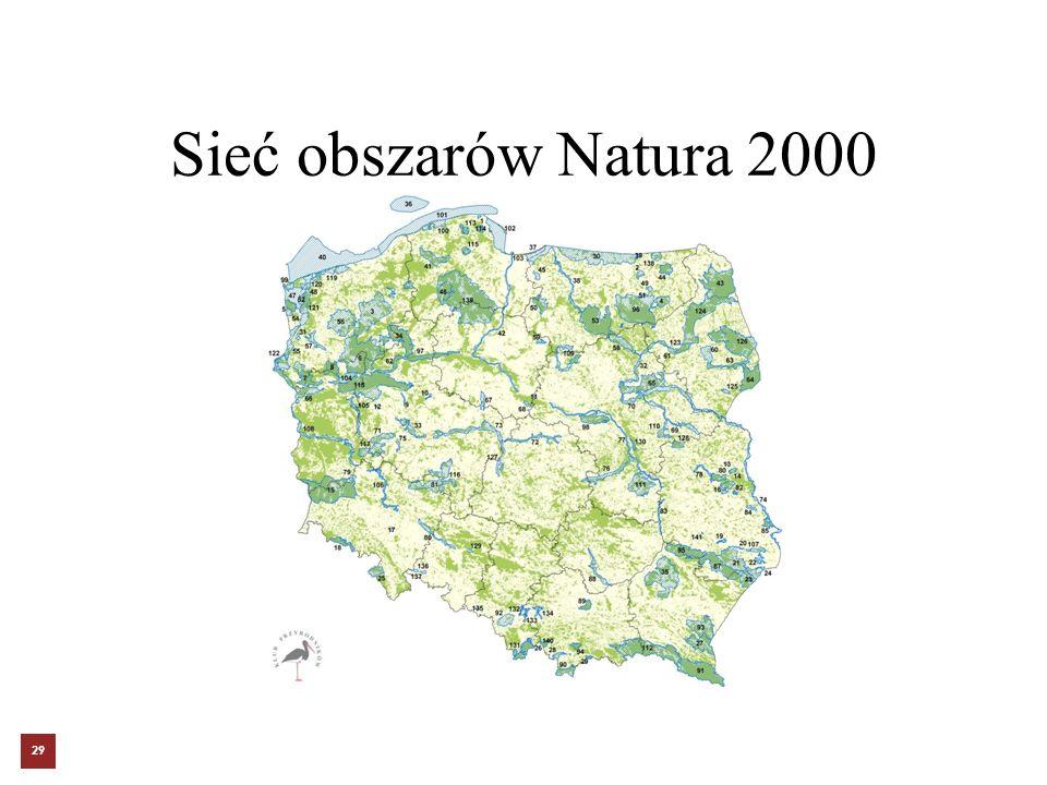 Sieć obszarów Natura 2000 29