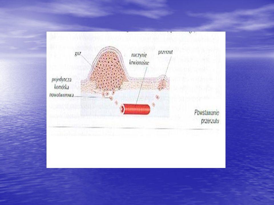 Nowotwory złośliwe ze względu na rodzaj tkanki dzielimy na: Raki- wywodzące się z nabłonków pokrywających lub Raki- wywodzące się z nabłonków pokrywających lub wyścielających narządy ciała.