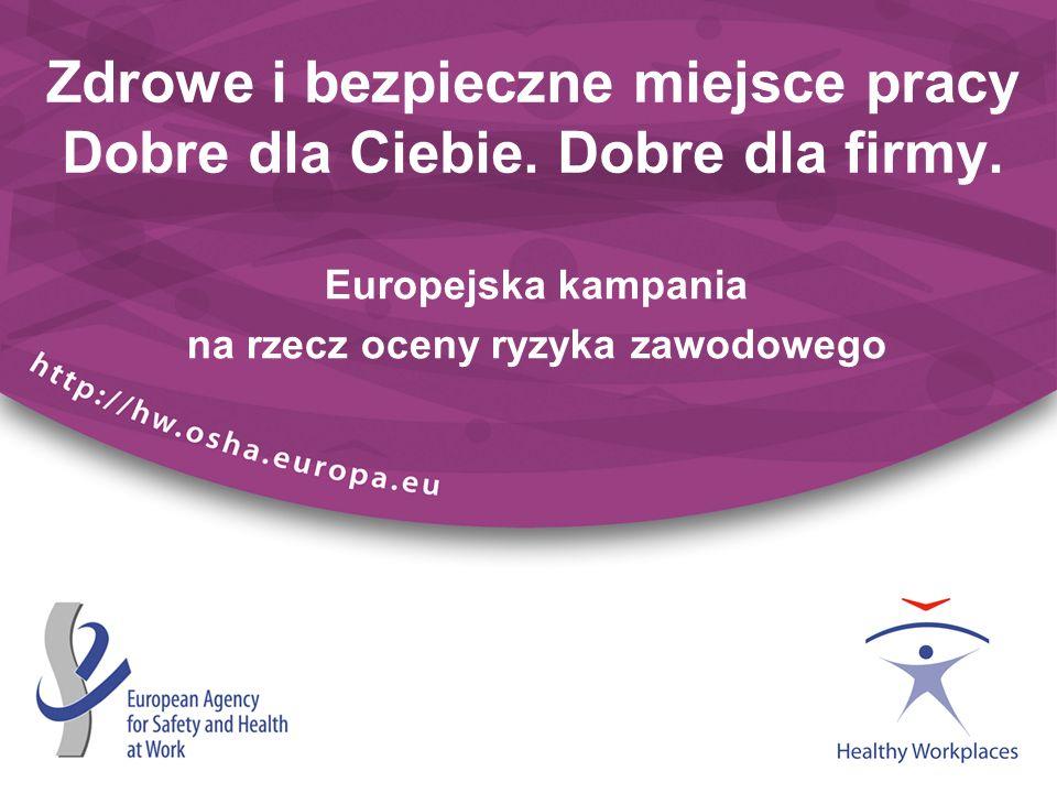 Kontekst kampanii (1) 205 mln zatrudnionych w Europie 167 000 zgonów spowodowanych wypadkami związanymi z pracą i chorobami zawodowymi w UE-27, w tym: 159 000 zgonów spowodowanych chorobami związanymi z pracą 74 000 zgonów spowodowanych niebezpiecznymi substancjami występującymi w pracy (łącznie z azbestem) 7 460 zgonów spowodowanych wypadkami związanymi z pracą Dane liczbowe w niniejszej prezentacji pochodzą z ogólnych informacji na temat naszej kampanii: http://osha.europa.eu/campaigns/hw2008/campaign/campaignsummary