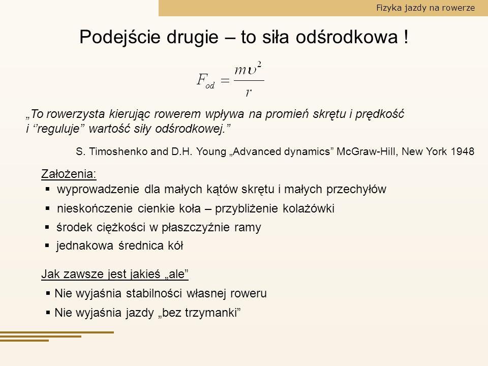 Fizyka jazdy na rowerze S.Timoshenko and D.H.
