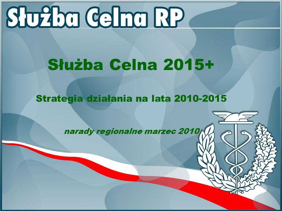 Strategia 2007+ Sprawozdanie z wykonania planu pracy na rok 2009 będzie jednocześnie ostatnim etapem realizacji Strategii działań Służby Celnej 2007+.