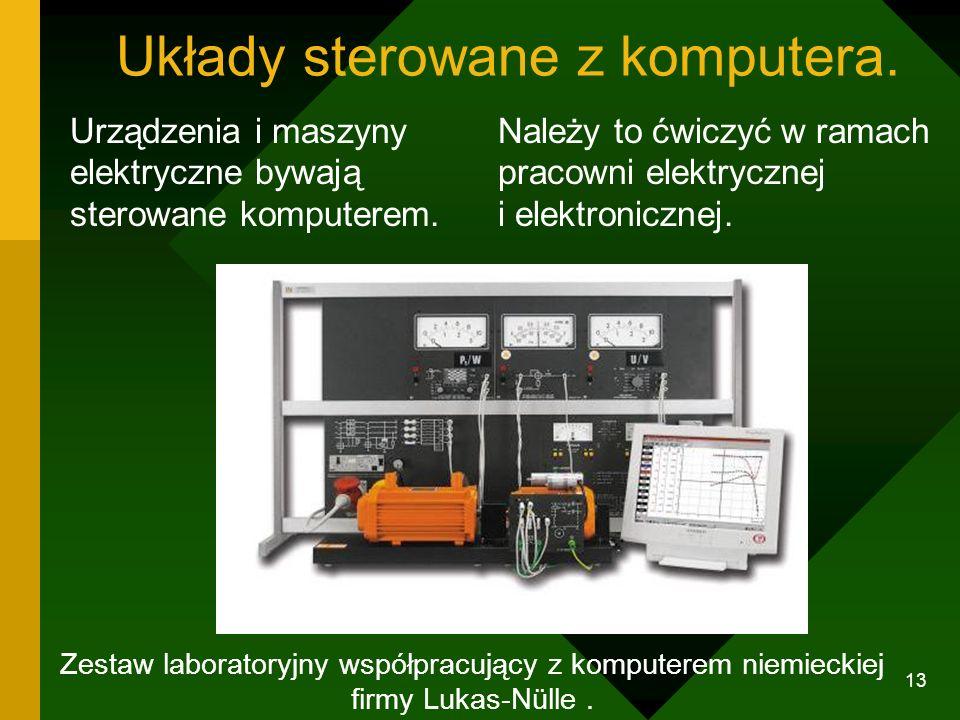 12 Mierniki współpracujące z komputerem Multimetr łączy się z komputerem za pomocą szeregowego złącza typu RS-232C. Konieczne jest tu oprogramowanie,