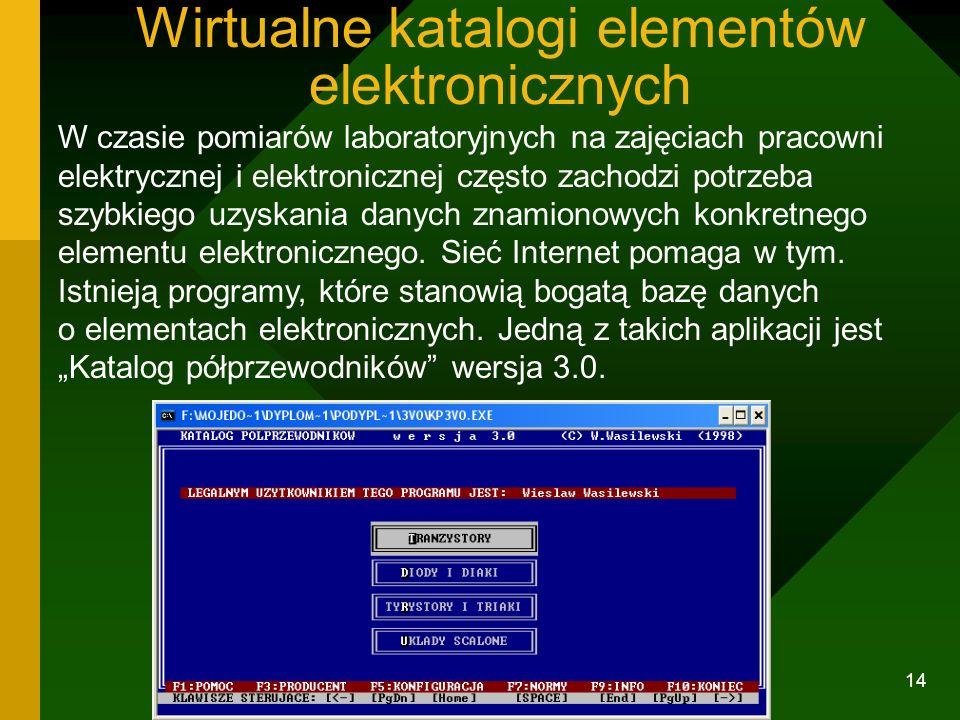 13 Układy sterowane z komputera. Urządzenia i maszyny elektryczne bywają sterowane komputerem. Zestaw laboratoryjny współpracujący z komputerem niemie