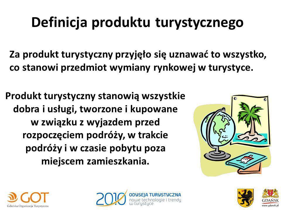 Definicja produktu turystycznego Za produkt turystyczny przyjęło się uznawać to wszystko, co stanowi przedmiot wymiany rynkowej w turystyce. Produkt t