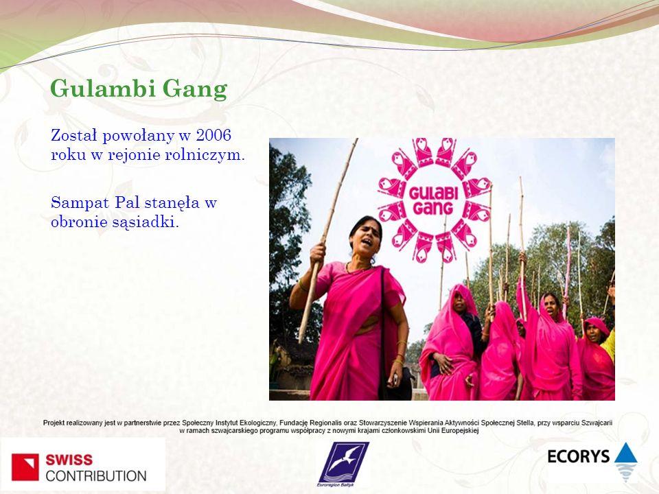 Gulambi Gang Został powołany w 2006 roku w rejonie rolniczym. Sampat Pal stanęła w obronie sąsiadki.