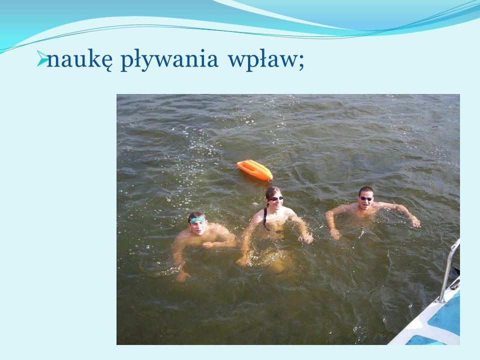 naukę pływania wpław;